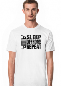 SLEEP OFFROAD REPEAT Jeep Wrangler YJ T-shirt męski, koszulka