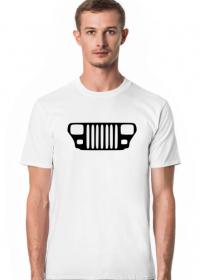 Jeep Wrangler YJ Grill T-shirt męski, koszulka