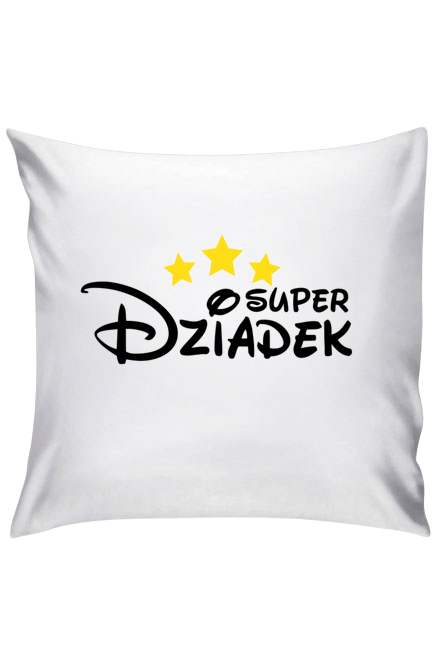 Poduszka - Super Dziadek (Prezent na Dzień Dziadka)