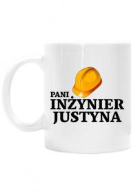 Kubek Pani inżynier z imieniem Justyna dwustronny