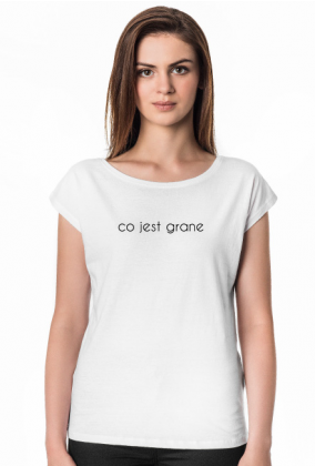 co jest grane - koszulka damska biała