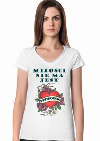 WALENTYNKA - koszulka damska biała