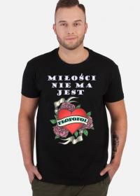 WALENTYNKA - koszulka męska czarna