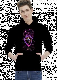 COSMIC LOVE- bluza męska czarna