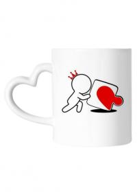 Kubek serce na Walentynki dla zakochanych - puzzle
