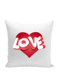 Serce Love - poduszka (Prezent na Walentynki dla niej i dla niego)