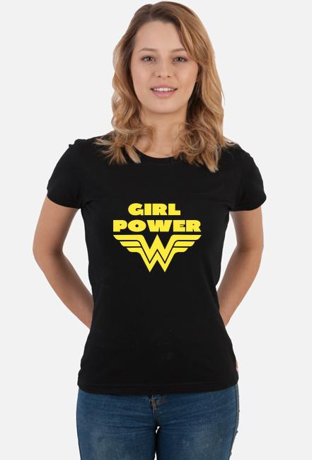 Koszulka damska - Girl Power (Pomysł na prezent na Dzień Kobiet)