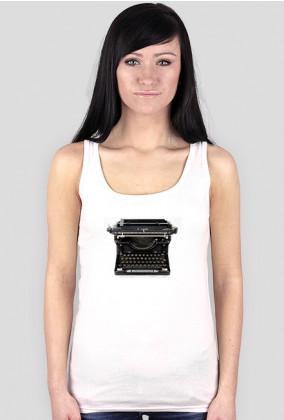 retro vintage koszulka damska maszyna do pisania