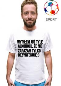 Podkoszulek koszulka z krótkim rękawem i napisem