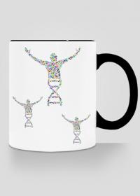 Kubek z kolorowym uszkiem *DNA