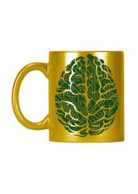 Złoty kubek ceramiczny z efektem ALU * The personal processor