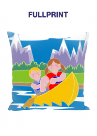 Mala poduszka jasiek full print Dziewczynki na lodce