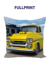 Mala poduszka jasiek full print Vintage American Car Gold