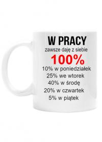 KUBEK W PRACY ZAWSZE DAJĘ Z SIEBIE 100%