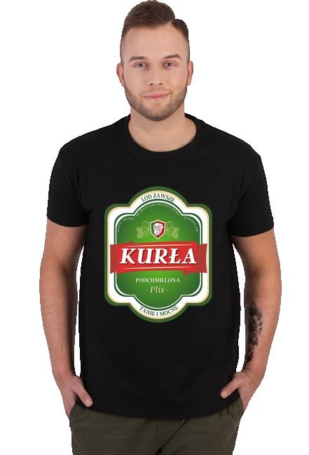 Koszulka męska - KURŁA (Prezent na Dzień Ojca)