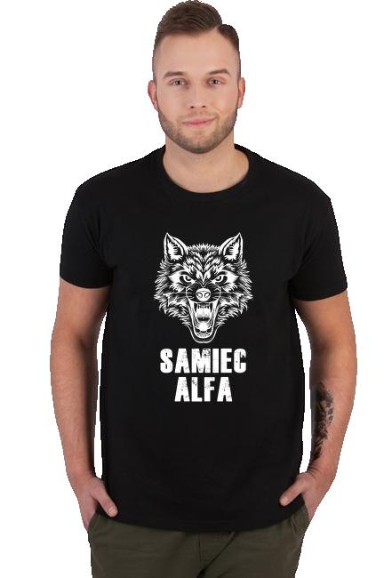 Koszulka Męska - Tata Samiec Alfa (Prezent dla Taty)