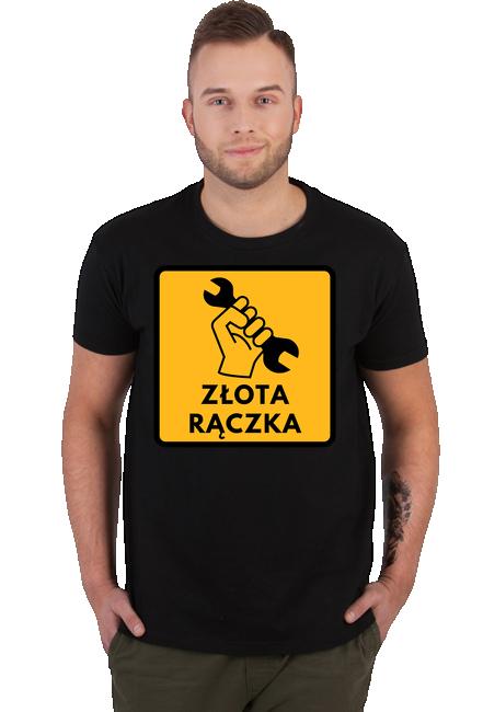 Koszulka Męska - Tata Złota rączka (Prezent na Dzień Ojca)