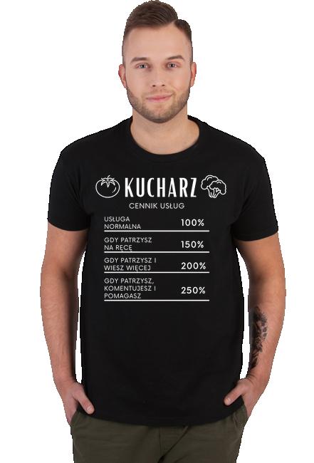 Koszulka Męska - Tata Kucharz (Prezent na Dzień Ojca)