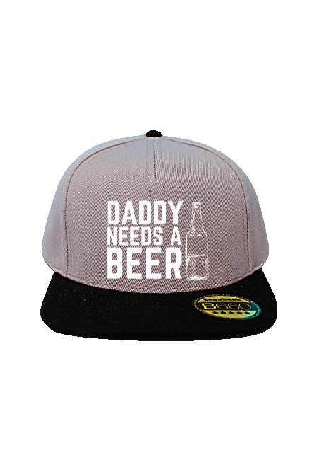 Czapka - Dady needs a beer (Prezent na Dzień Ojca)