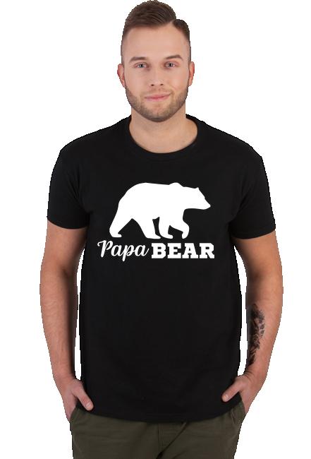 Koszulka Męska - PapaBear (Prezent dla Ojca)