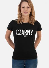 Koszulka damska czarna z napisem Czarny T-shirt