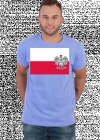 Koszulka T-Shirt z nadrukiem patriotyczna bialo-czerwona flaga Orzel bialy