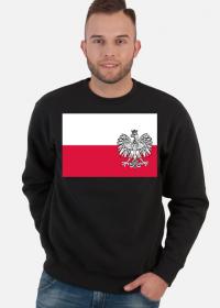 Patriotyczna bluza z nadrukiem bialo-czerwona flaga Orzel bialy