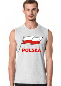 Koszulka bez rekawow patriotyczna bialo-czerwona flaga Polska