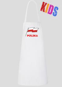 Fartuch kuchenny dzieciecy patriotyzm bialo-czerwona flaga Polska