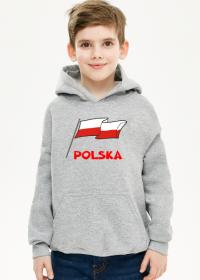 Bluza dziecieca z kapturem patriotyczna bialo-czerwona flaga Polska