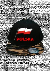 Patriotyczna czapka z daszkiem snapback bialo-czerwona flaga Polska