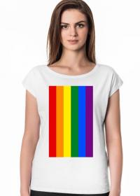 Tęcza LGBT koszulka damska (różne kolory)