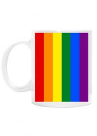 Tęcza LGBT kubek obustronny