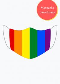Tęcza LGBT maseczka