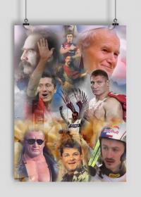 Najwięksi Polacy obraz plakat A2