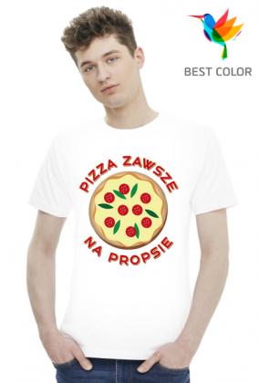 Pizza Zawsze Na Propsie - Koszulka Męska