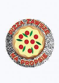 Pizza Zawsze Na Propsie - Magnes polimerowy okrągły