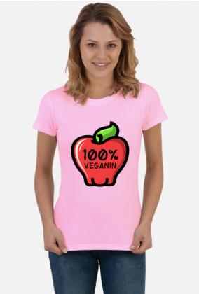 100% Veganin - Koszulka damska