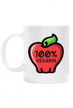 100% Veganin - Kubek biały
