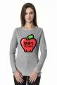 100% Veganin - Koszulka damska z długim rękawem