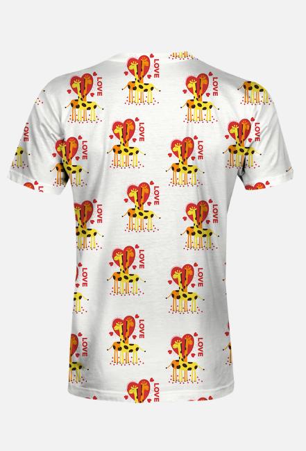 Zakochane Żyrafy - Koszulka męska fullprint