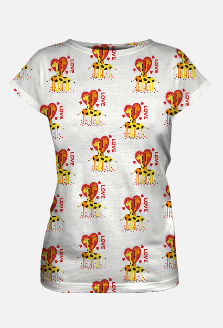 Zakochane Żyrafy - Koszulka damska fullprint