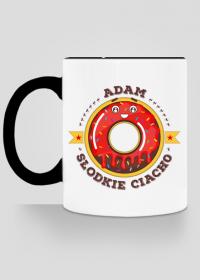 Adam Słodkie Ciacho - Kubek biało-kolorowy z imieniem