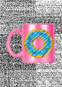 Donutowo - Kubek różowy ceramiczny