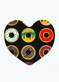 Donutowo - Magnes polimerowy serce na lodówkę