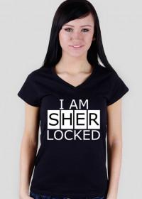 Sherlocked - damska V-neck
