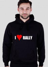 I love rally (bluza, czarna)