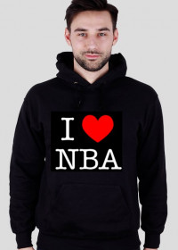 Bluza z kapturem I LOVE NBA