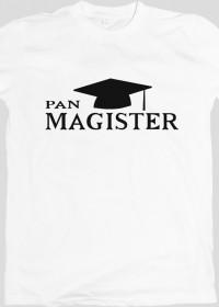 prezent na obronę pracy mgr - pan magister biała koszulka