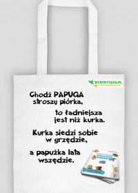 Torba ekologiczna z bajką PAPUGA